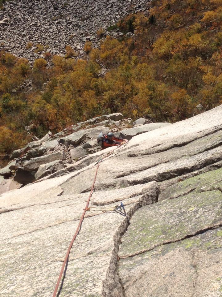 Escalade a Cannon Cliff